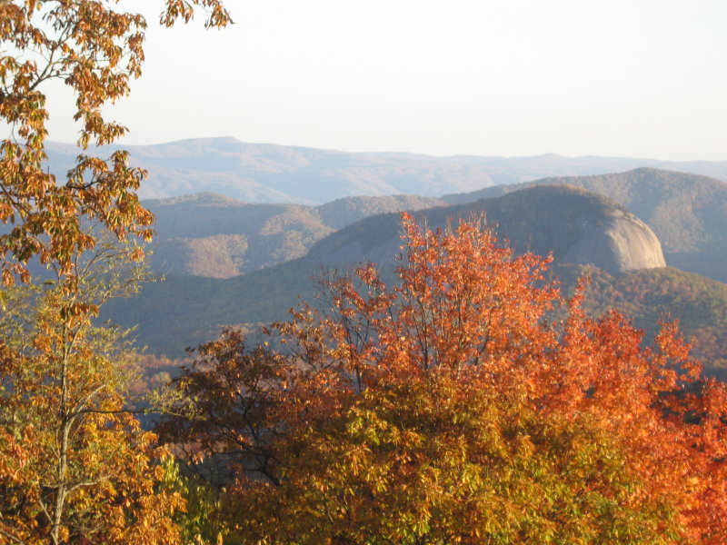 View of Looking Glass from the Blue Ridge Parkway.